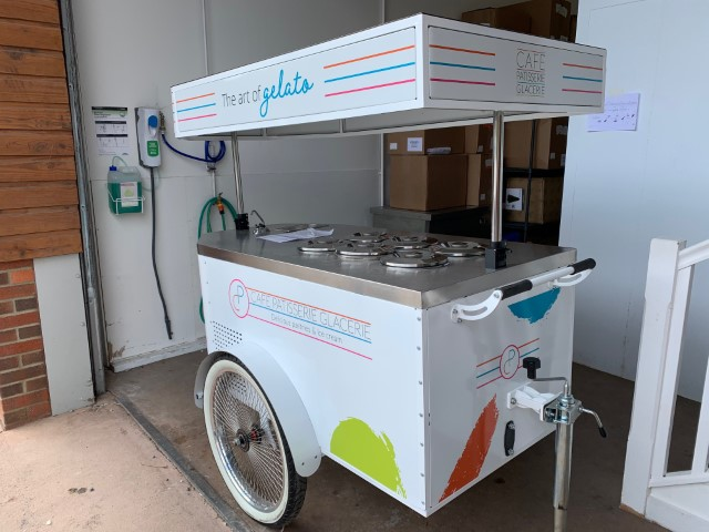 Transport Graphics for Mobile Cafe